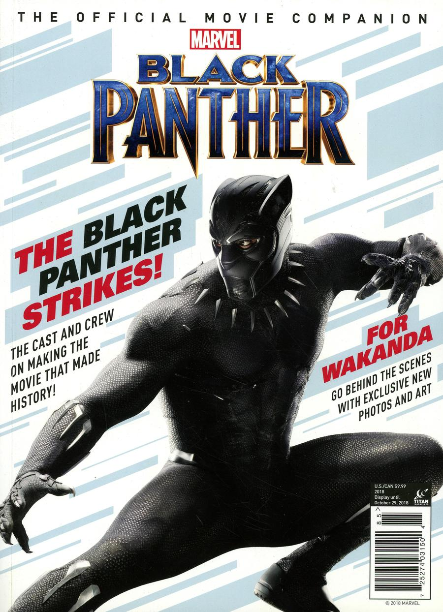 Marvel Black Panther The Official Movie Companion Newsstand Edition