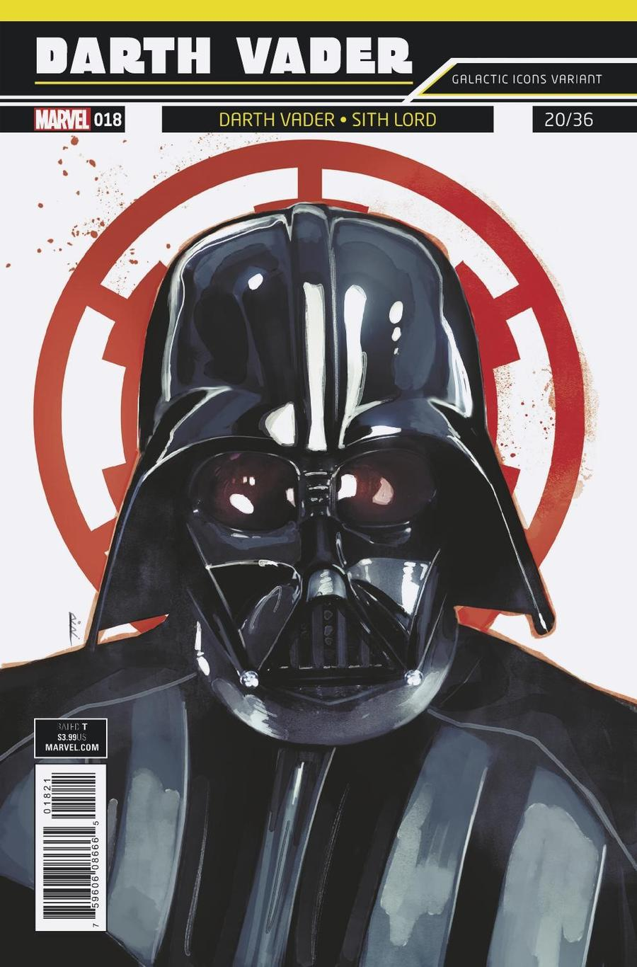 Darth Vader Vol 2 #18 Cover B Variant Rod Reis Galactic Icon Cover