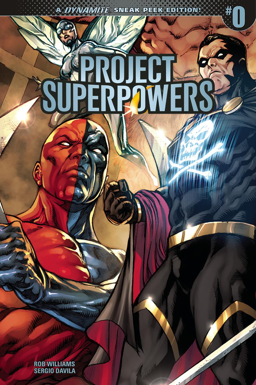 Project Superpowers Vol 3 #0 Cover D Incentive Sergio Davila Sneak Peek Variant Cover