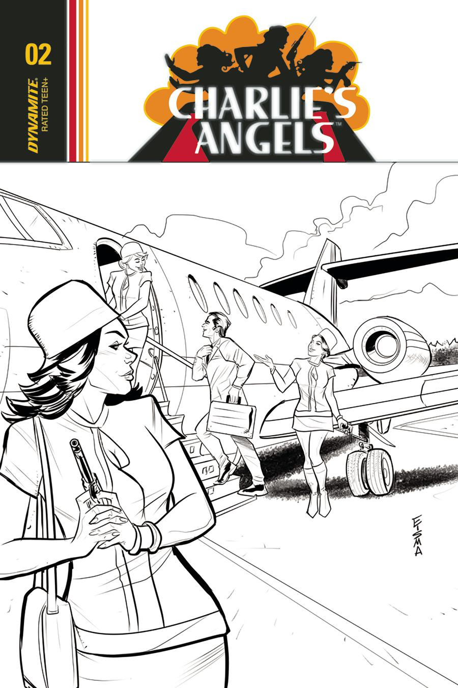 Charlies Angels #2 Cover C Incentive Joe Eisma Black & White Cover