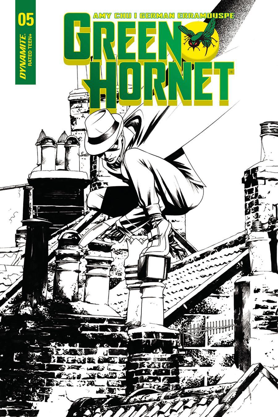 Green Hornet Vol 4 #5 Cover C Incentive Mike McKone Black & White Cover