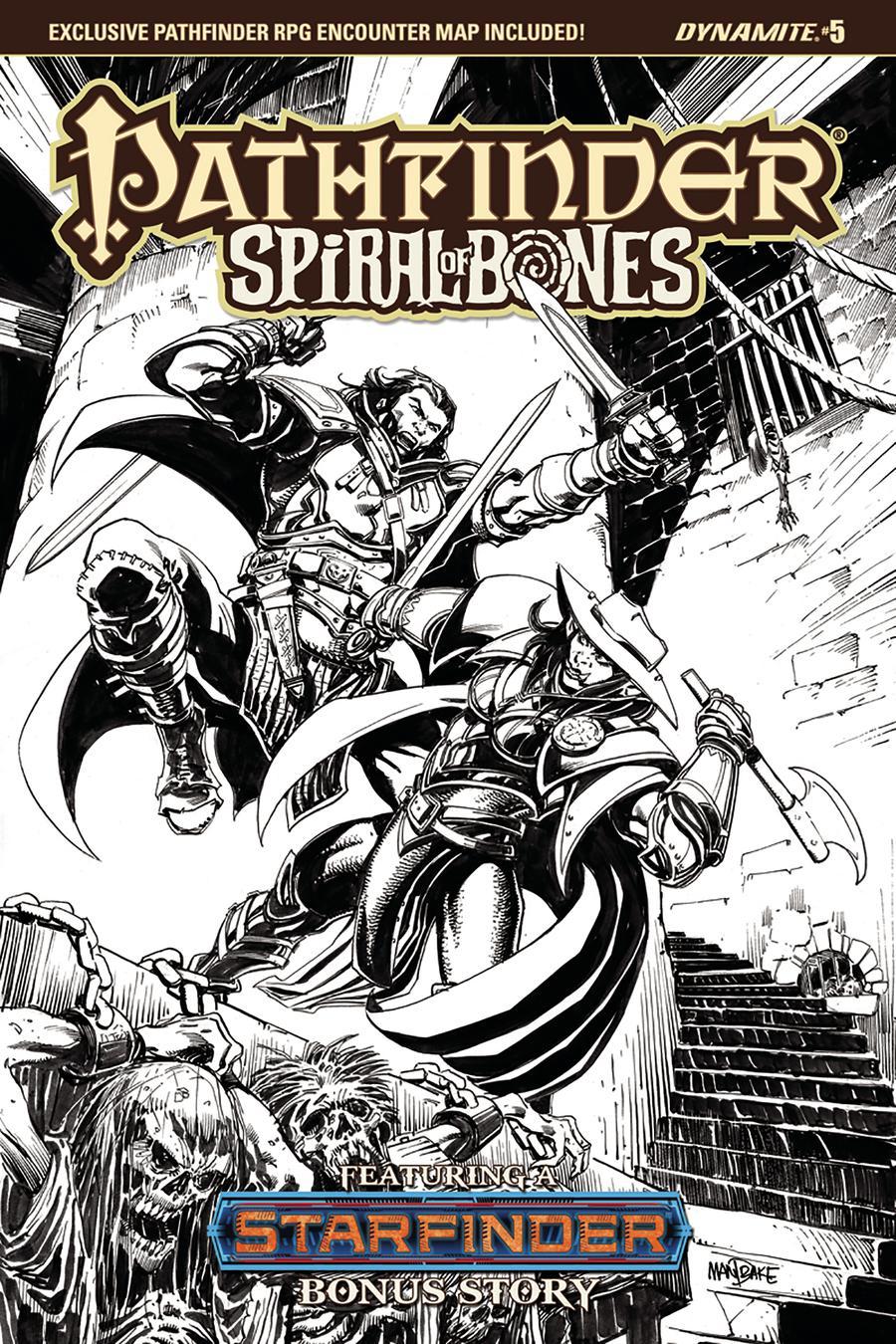 Pathfinder Spiral Of Bones #5 Cover D Incentive Tom Mandrake Black & White Cover