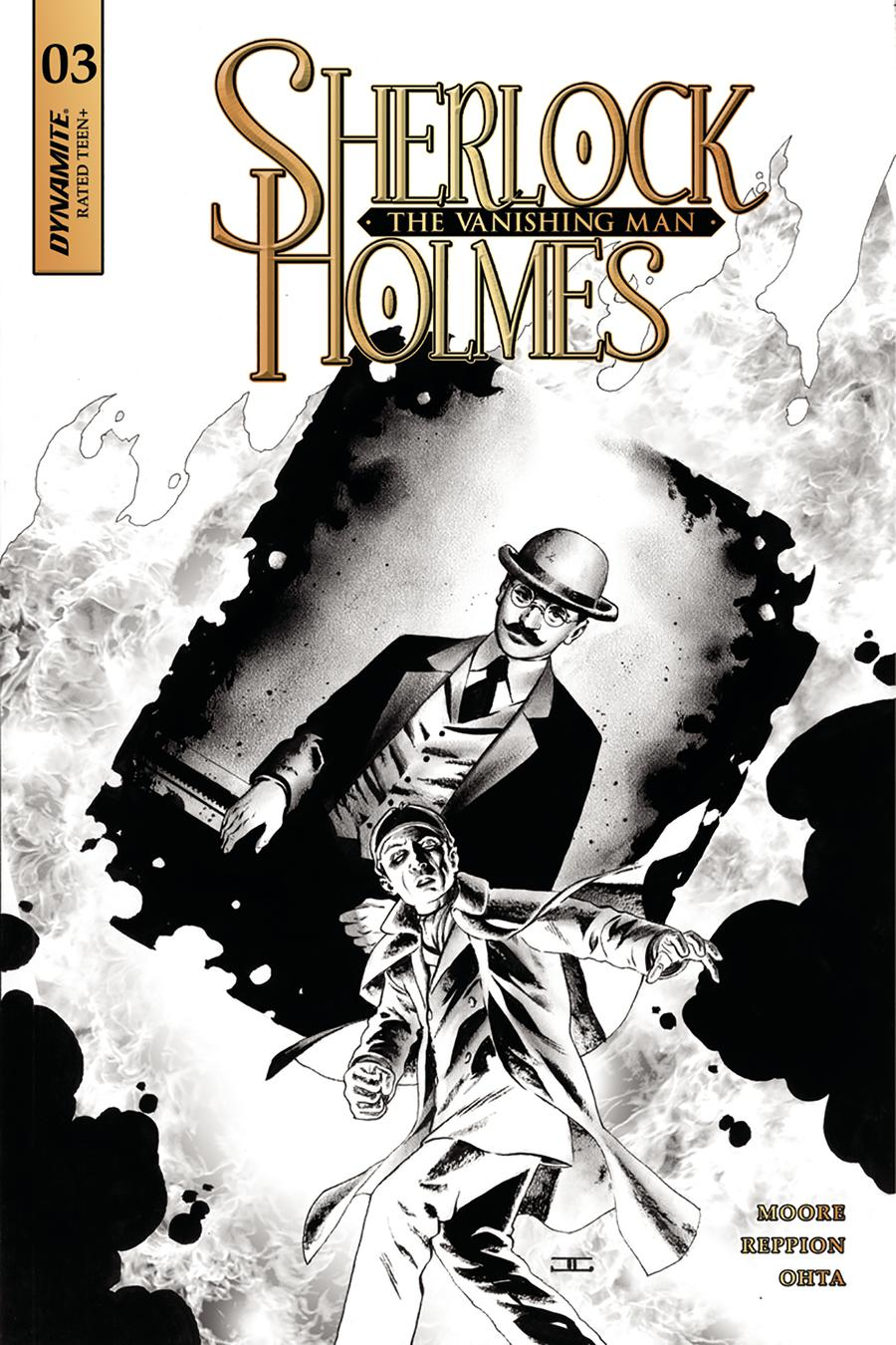 Sherlock Holmes Vanishing Man #3 Cover C Incentive John Cassaday Black & White Cover