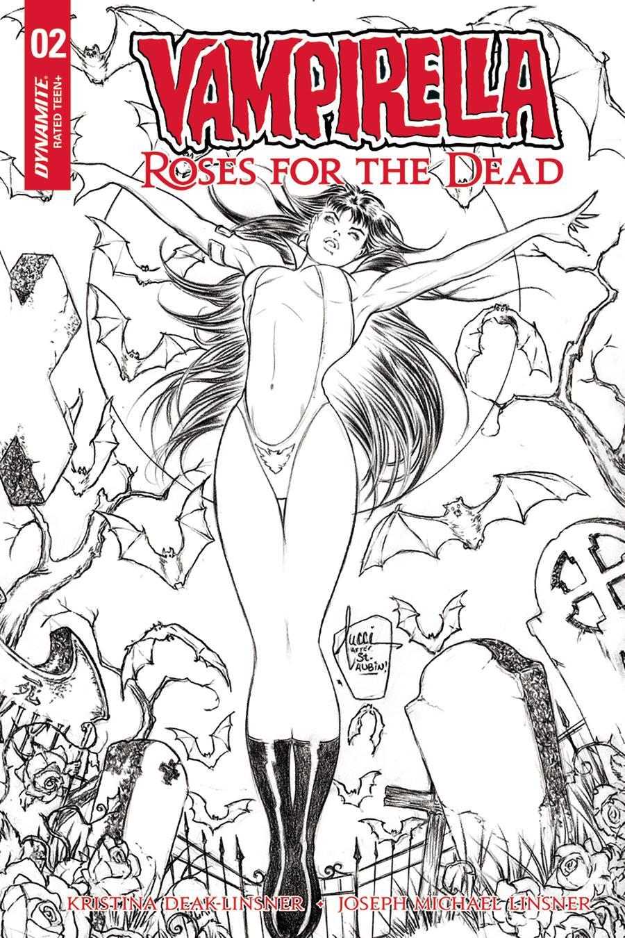 Vampirella Roses For The Dead #2 Cover C Incentive Billy Tucci Black & White Cover