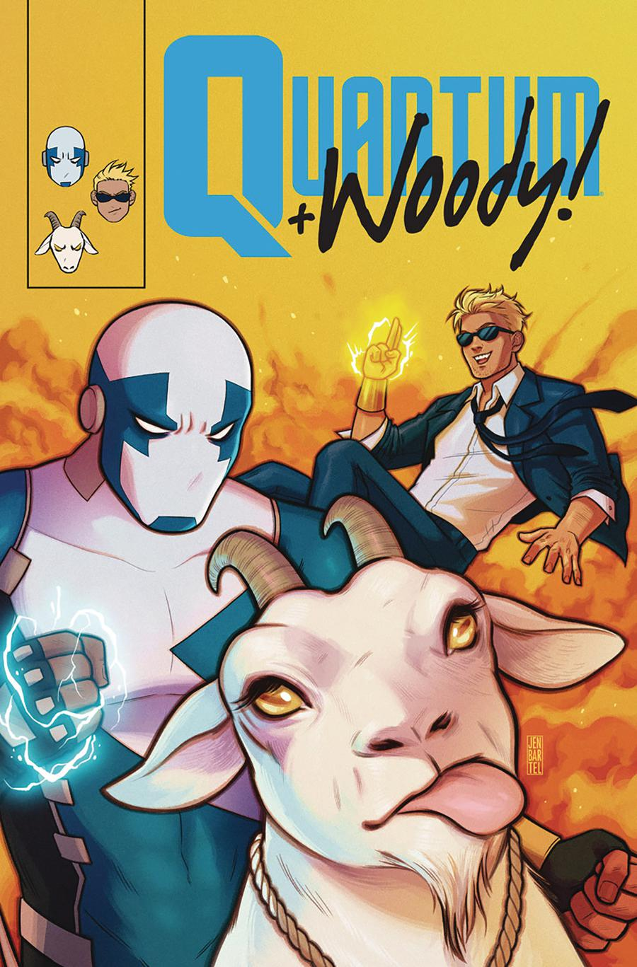Quantum & Woody Vol 4 #8 Cover E Incentive Jen Bartel Quantum & Woody Icon Variant Cover