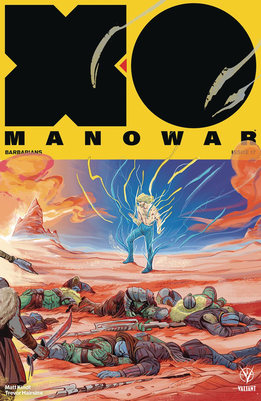X-O Manowar Vol 4 #17 Cover D Incentive Veronica Fish Interlocking Variant Cover
