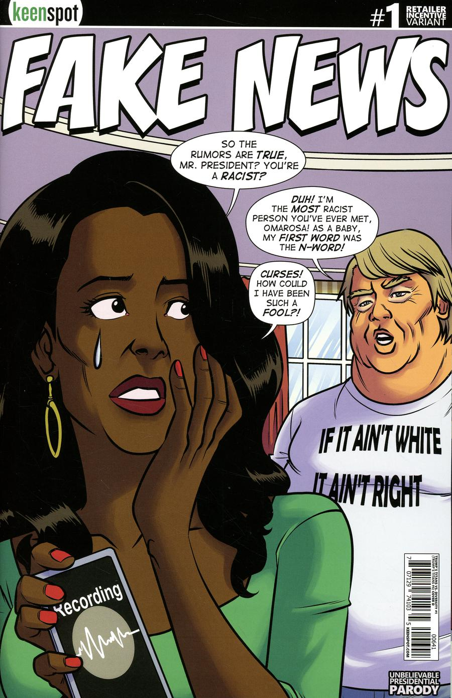 Trumps Titans vs Diversity #1 Cover D Variant Shawn Remulac Very Dishonest Fake News Cover