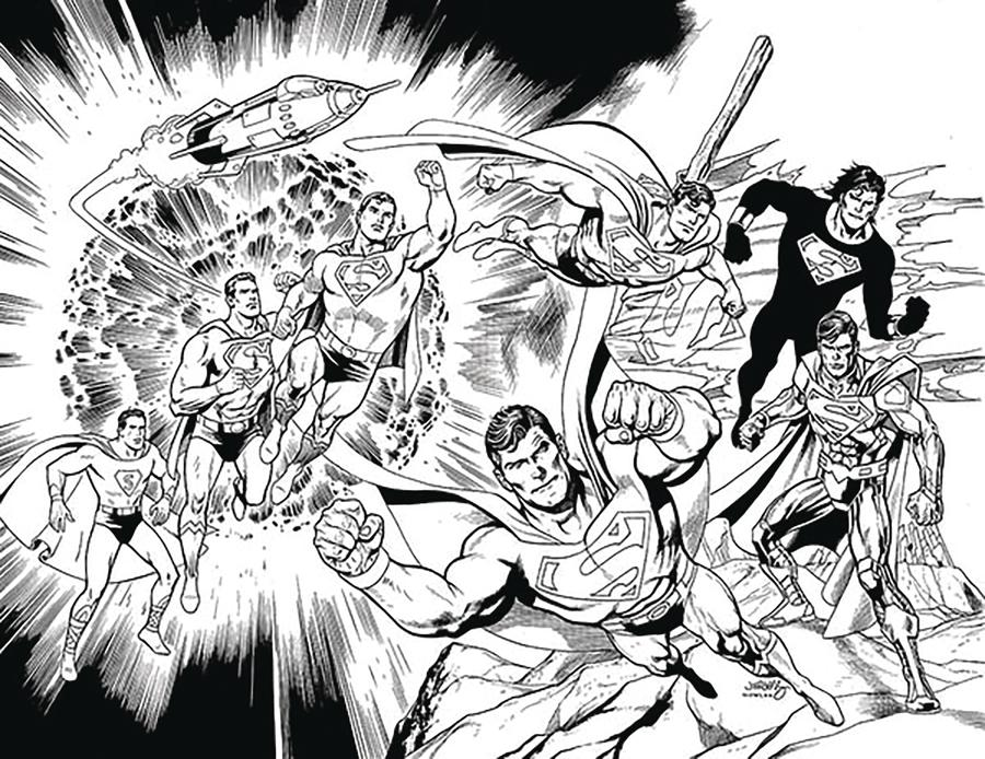 Action Comics Vol 2 #1000 Cover Z-A DF Dan Jurgens Black & White Exclusive Variant Cover Signed By Scott Snyder
