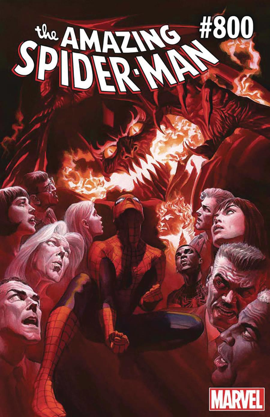 Amazing Spider-Man Vol 4 #800 Cover V DF Signed By Wade Von Grawbadger