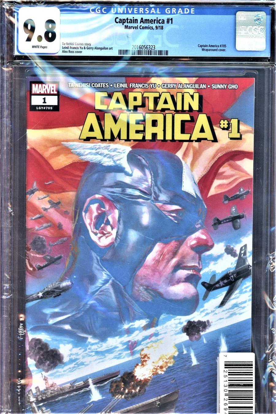 Captain America Vol 9 #1 Cover P DF CGC Graded
