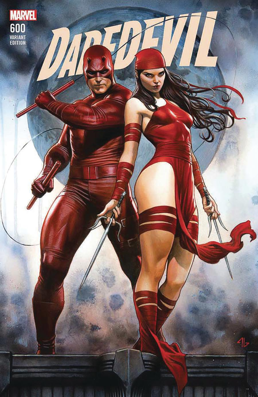 Daredevil Vol 5 #600 Cover Q DF Comic Sketch Art Exclusive Adi Granov Variant Cover Signed By Charles Soule