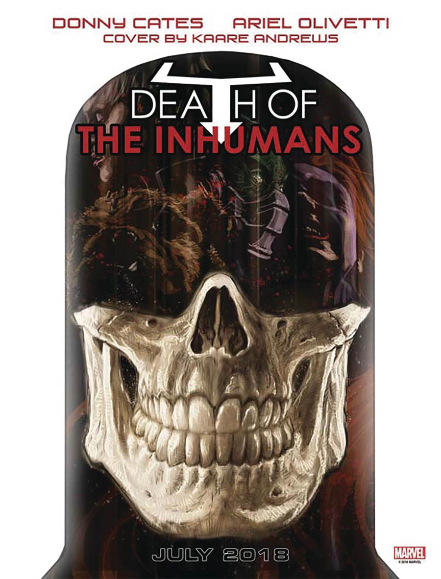 Death Of The Inhumans #1 Cover F DF Signed By Donny Cates