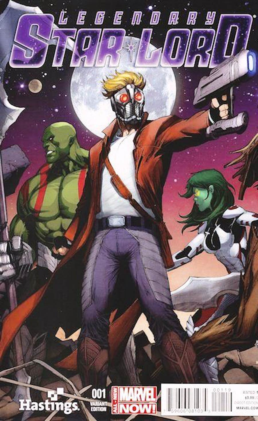 Legendary Star-Lord #1 Cover N Hastings Variant Cover