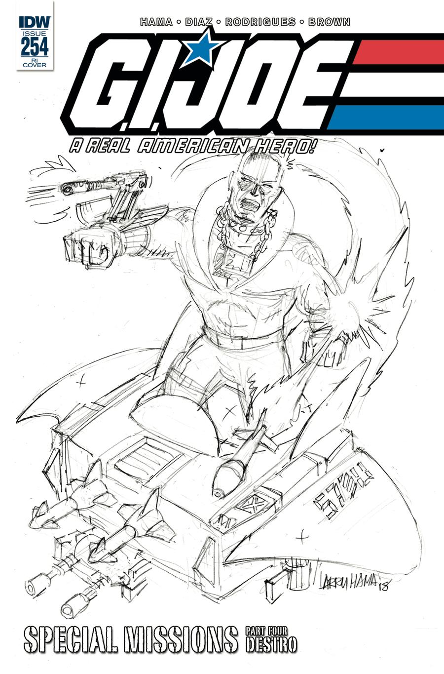 GI Joe A Real American Hero #254 Cover C Incentive Larry Hama Pencil Art Variant Cover