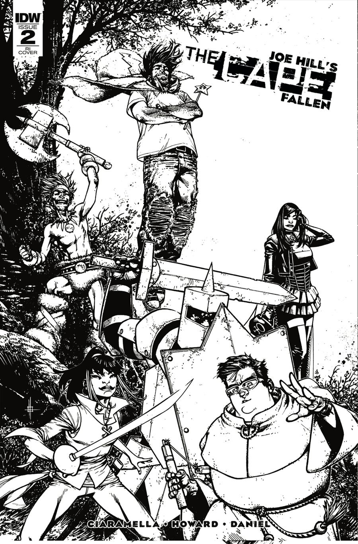 Joe Hills The Cape Fallen #2 Cover C Incentive Zach Howard & Nelson Daniel Black & White Cover