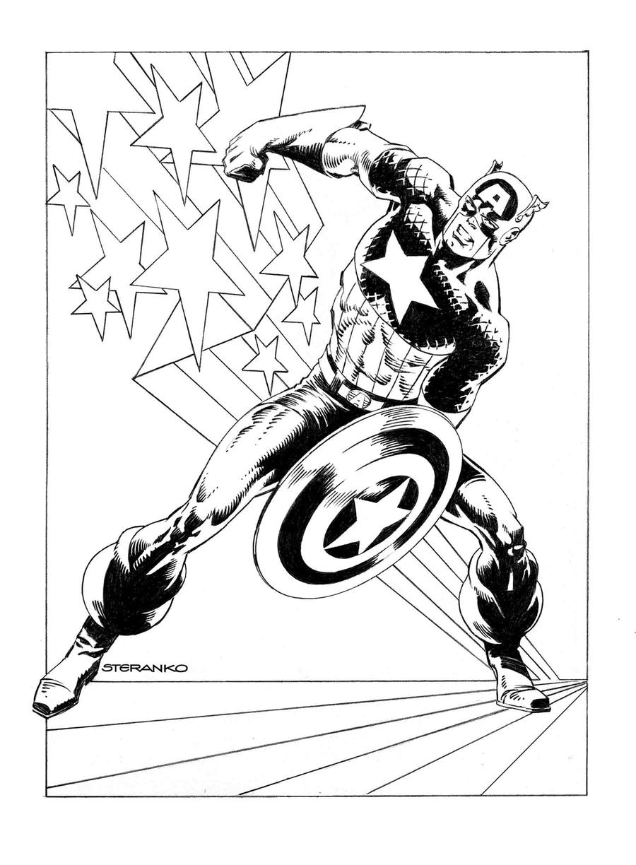 Captain America Vol 9 #1 Cover M Incentive Jim Steranko Variant Cover