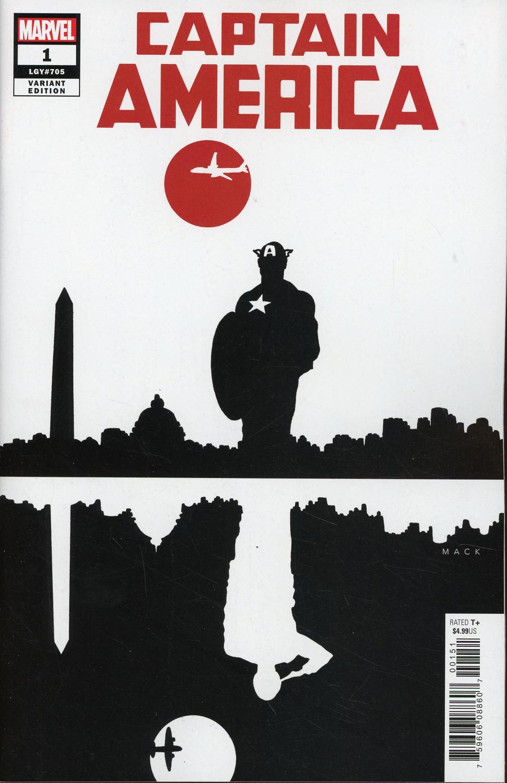 Captain America Vol 9 #1 Cover L Incentive David Mack Variant Cover