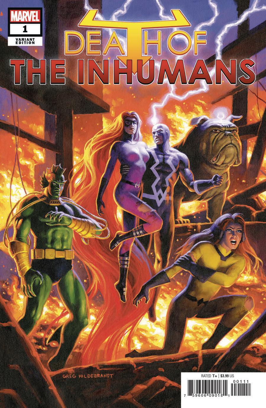 Death Of The Inhumans #1 Cover E Incentive Greg Hildebrandt Variant Cover