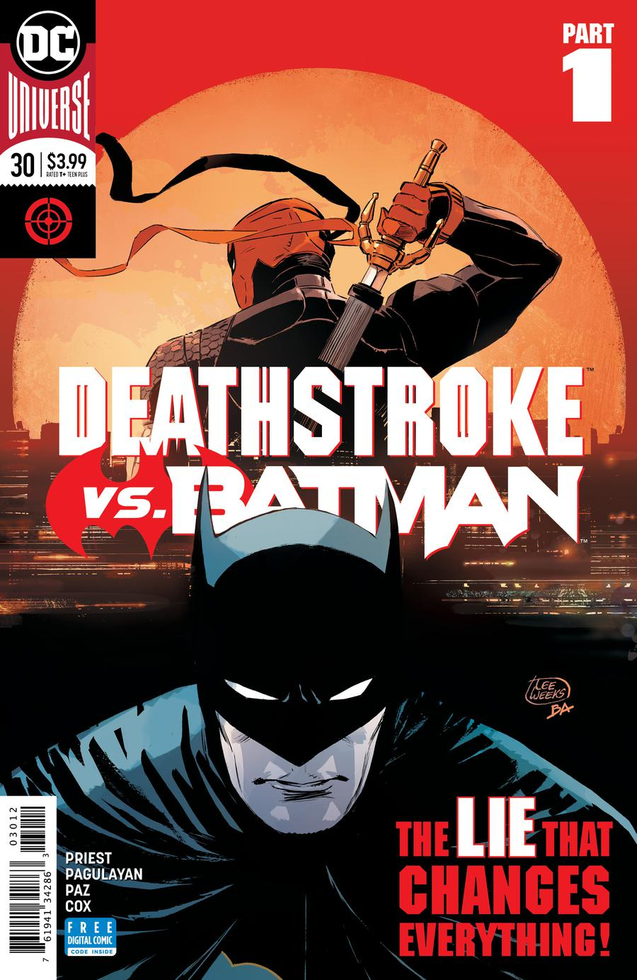 Deathstroke Vol 4 #30 Cover C 2nd Ptg Variant Lee Weeks Cover