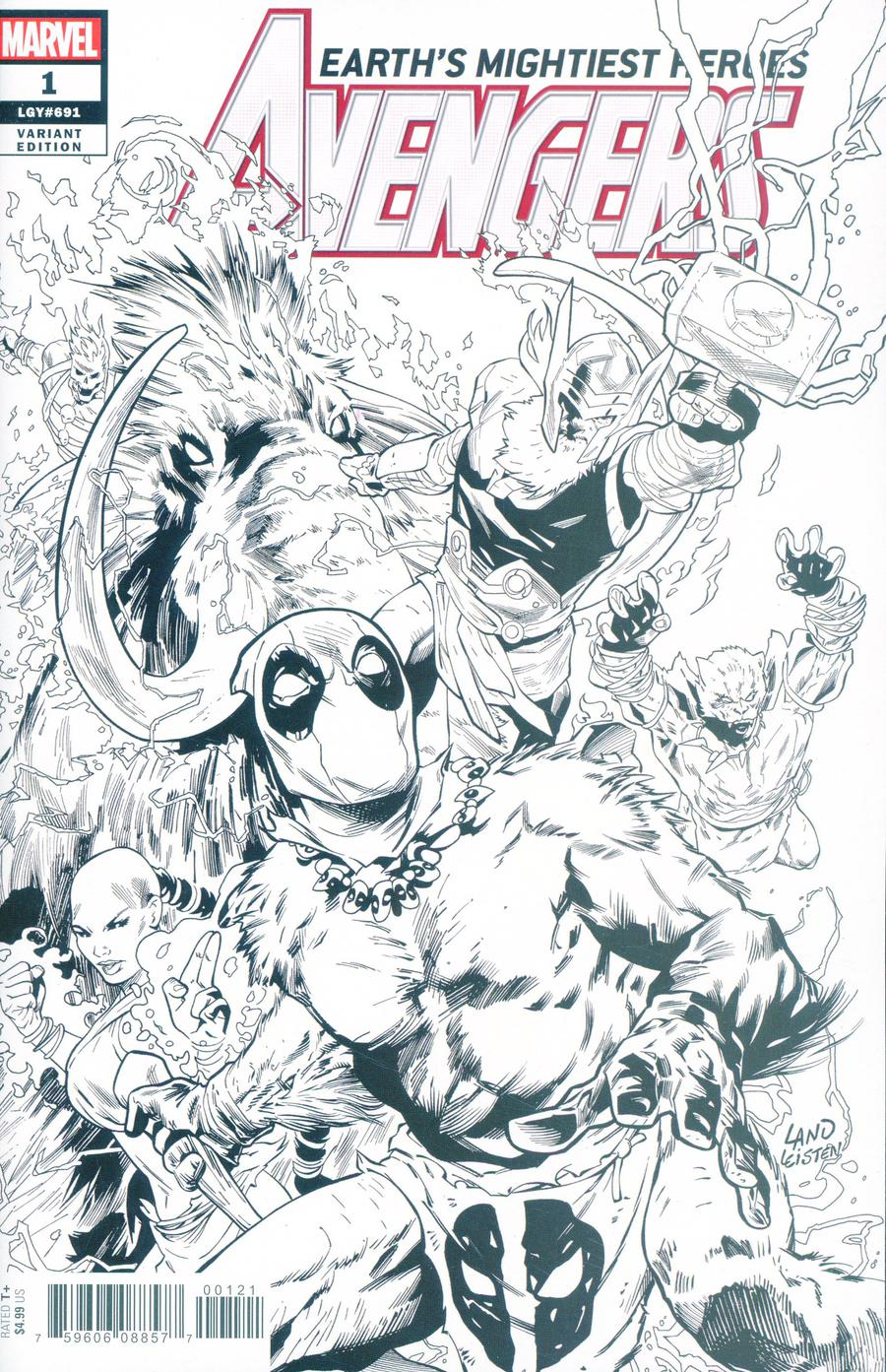Avengers Vol 7 #1 Cover H Incentive Greg Land Party Sketch Variant Cover