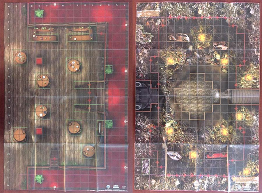 DC HeroClix 2017 High Noon Saloon / Junkyard Outdoor Double Sided Map