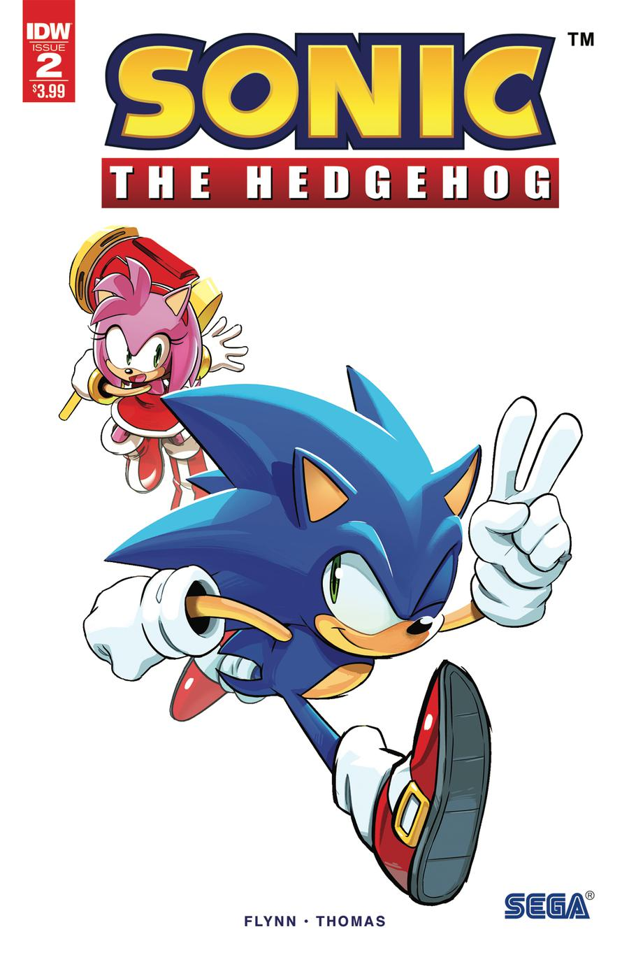 Sonic The Hedgehog Vol 3 #2 Cover E 2nd Ptg Variant Tyson Hesse Cover