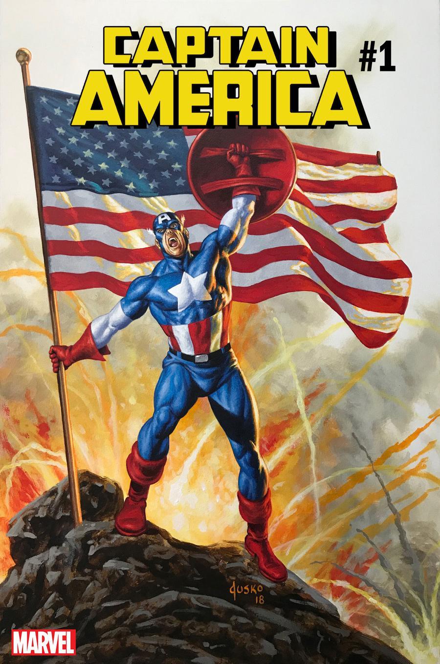 Captain America Vol 9 #1 Cover C Variant Joe Jusko Cover
