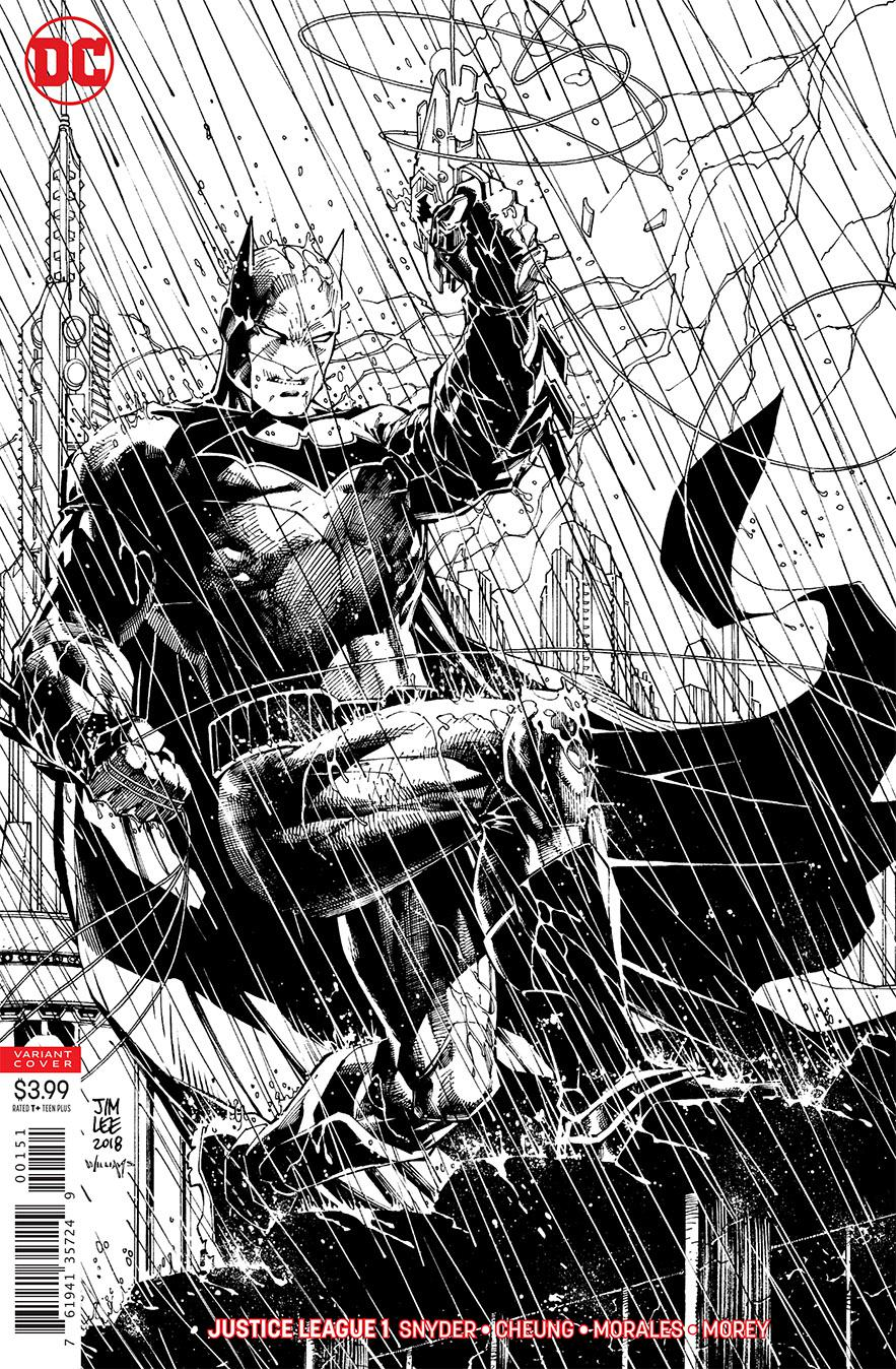 Justice League Vol 4 #1 Cover C Variant Jim Lee & Scott Williams Inks Only Cover