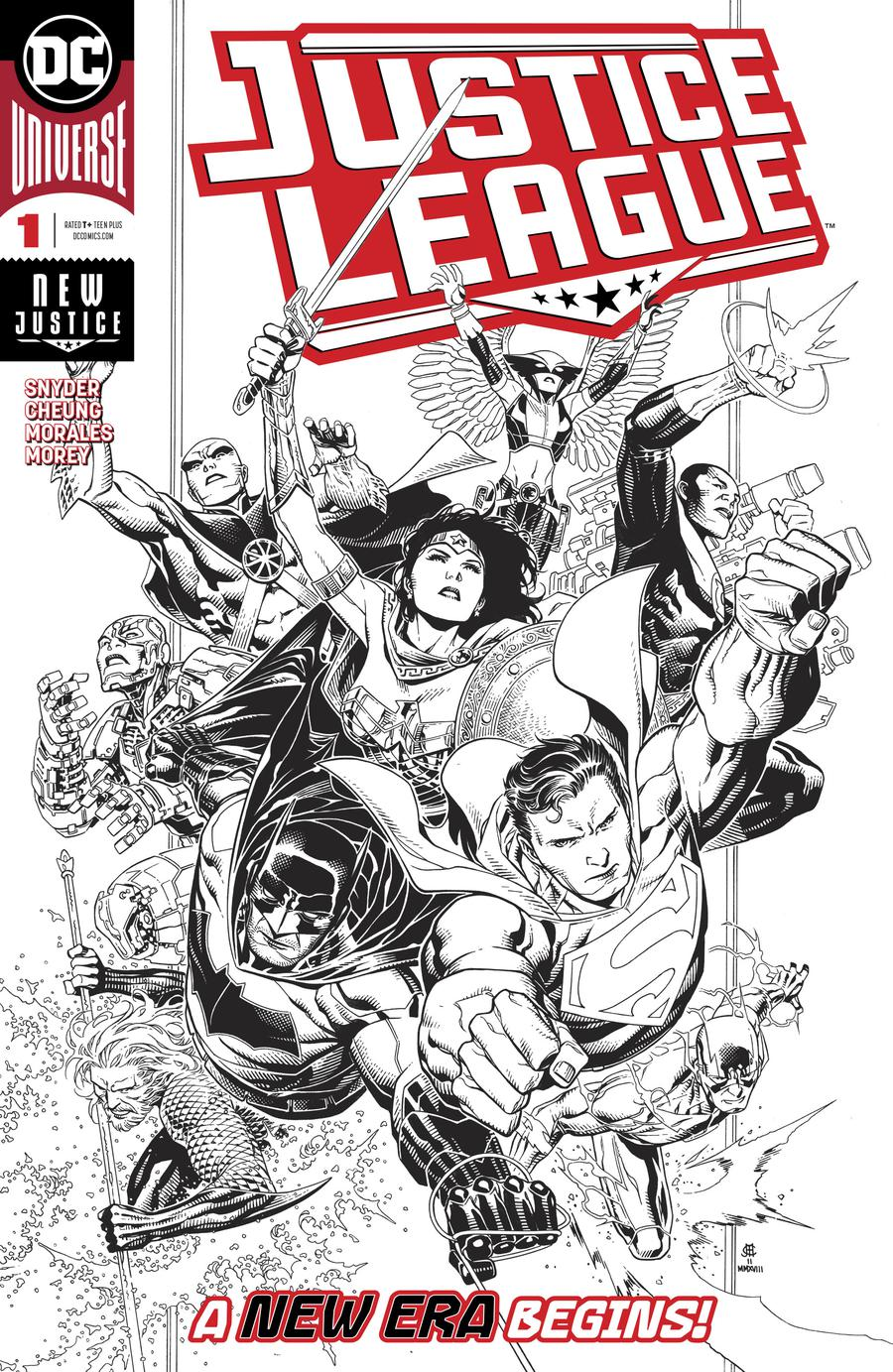 Justice League Vol 4 #1 Cover E Incentive Jim Cheung Inks Only Cover