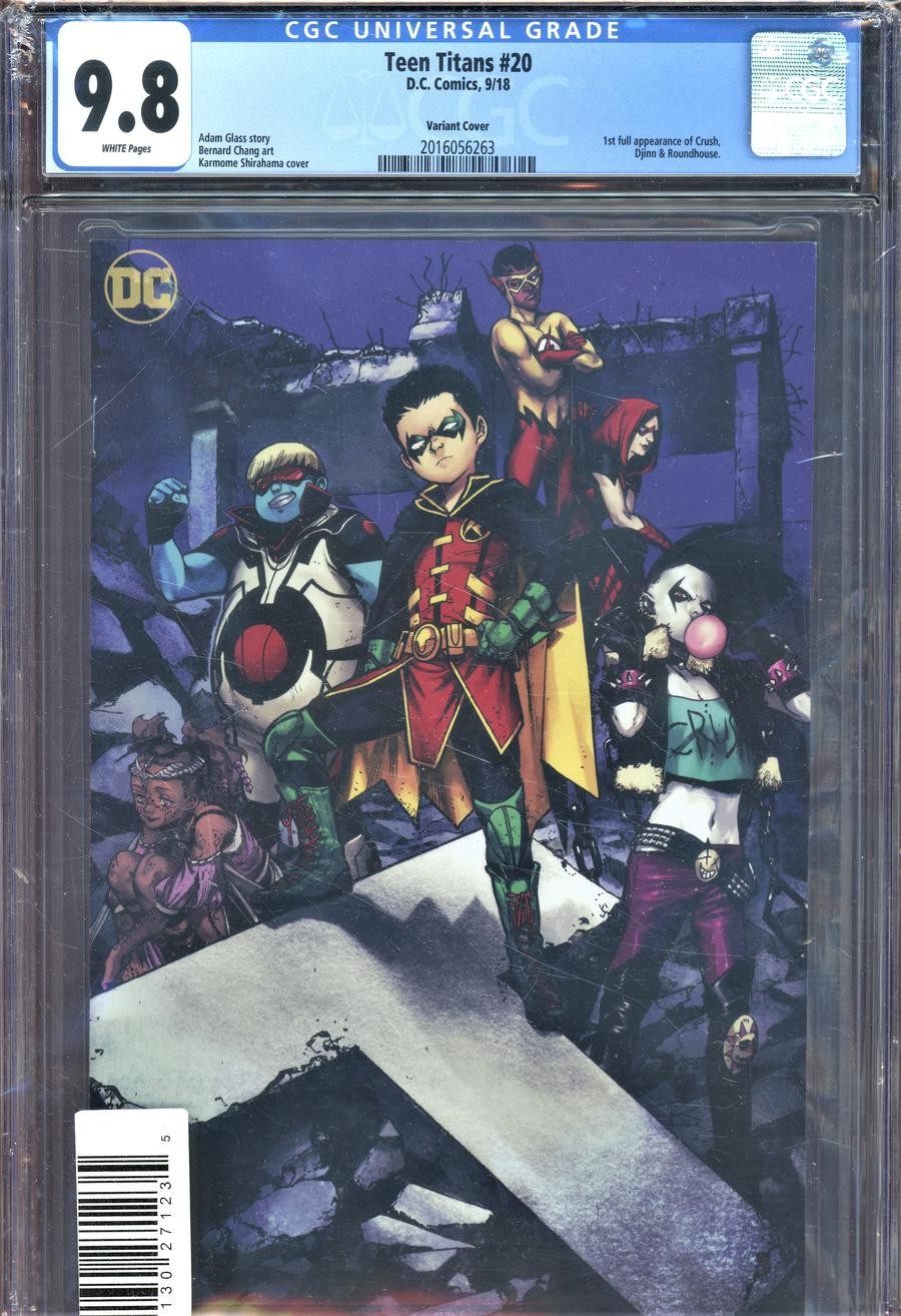 Teen Titans Vol 6 #20 Cover E DF CGC Graded