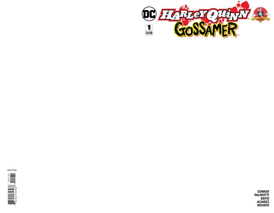 Harley Quinn Gossamer Special #1 Cover C Variant Blank Cover
