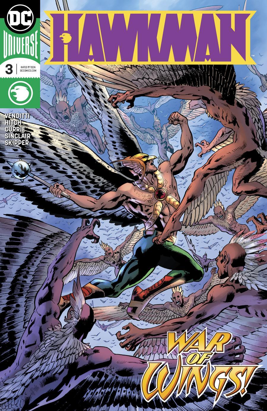 Hawkman Vol 5 #3 Cover A Regular Bryan Hitch Cover