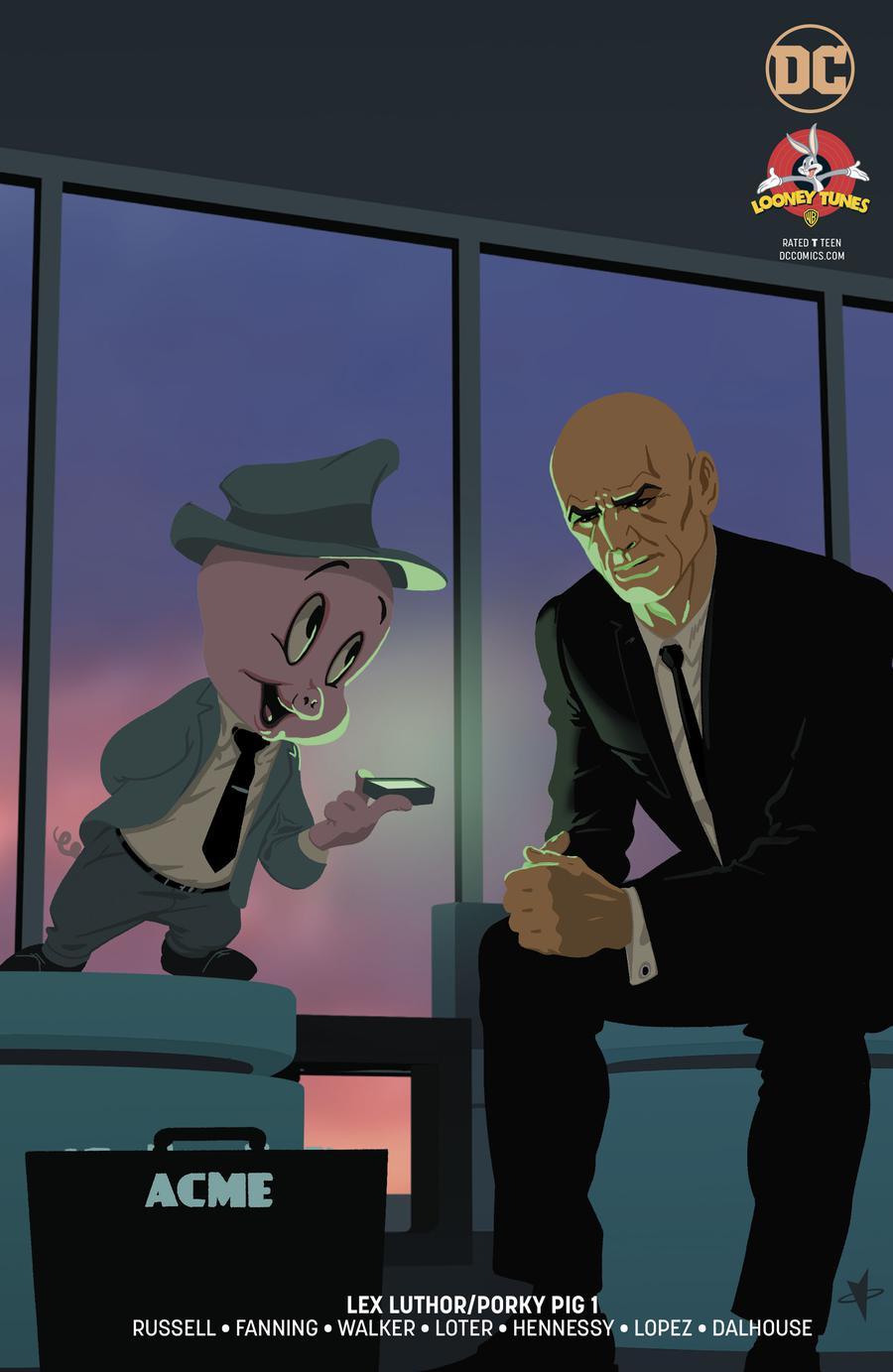Lex Luthor Porky Pig Special #1 Cover B Variant Mac Rey Cover