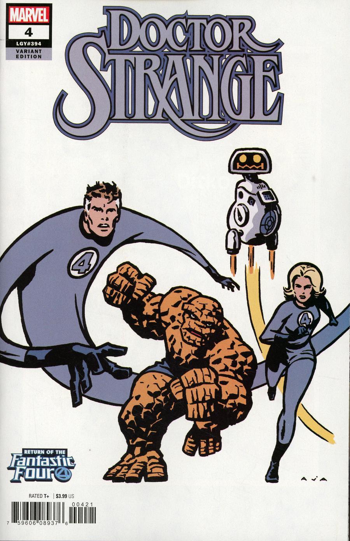 Doctor Strange Vol 5 #4 Cover B Variant David Aja Return Of The Fantastic Four Cover