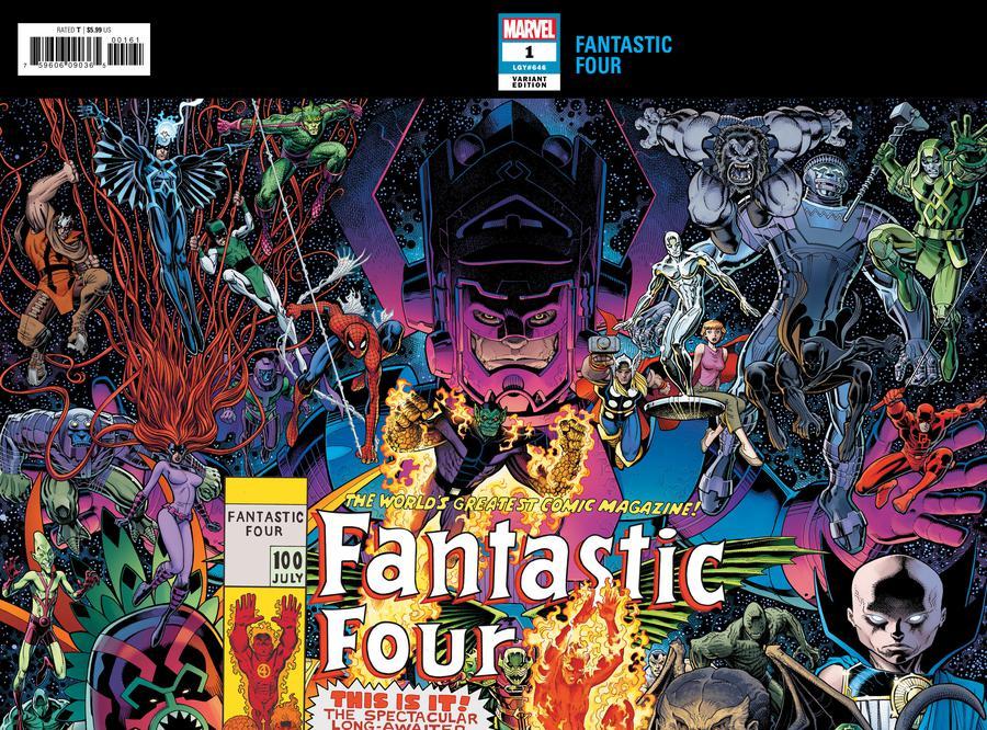 Fantastic Four Vol 6 #1 Cover C Variant Arthur Adams Wraparound Connecting Cover (1 Of 2)