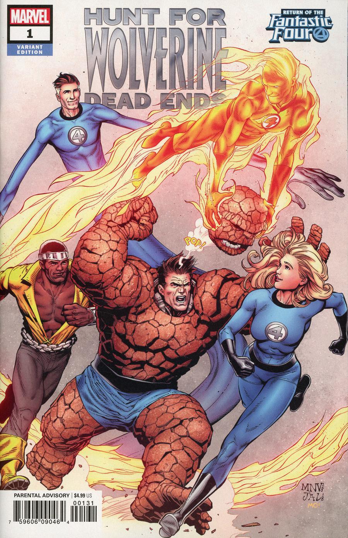 Hunt For Wolverine Dead Ends #1 Cover B Variant Steve McNiven Return Of The Fantastic Four Cover
