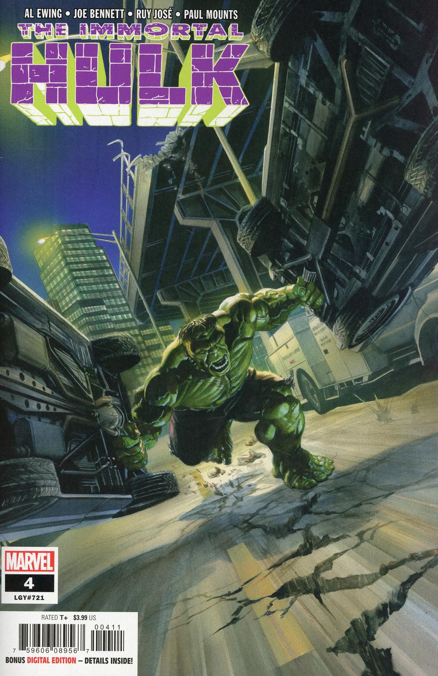 Immortal Hulk #4 Cover A 1st Ptg Regular Alex Ross Cover