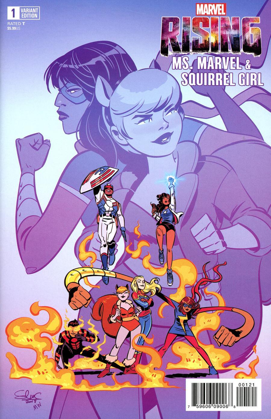 Marvel Rising Ms Marvel Squirrel Girl #1 Cover B Variant Elsa Charretier Cover