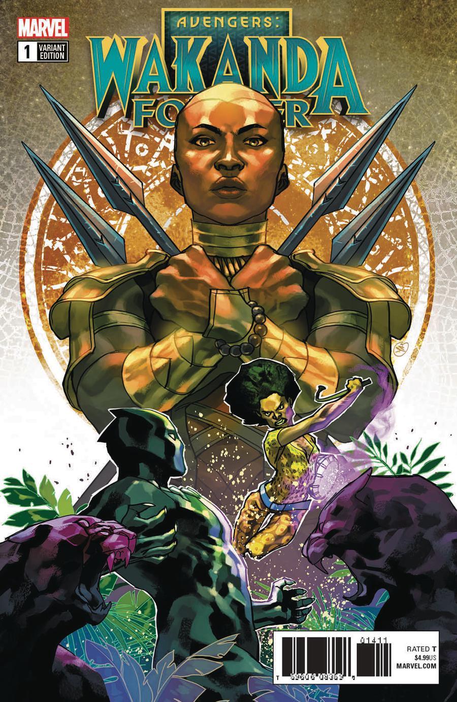 Wakanda Forever Avengers #1 Cover B Variant Yasmine Putri Connecting Cover (3 Of 3)