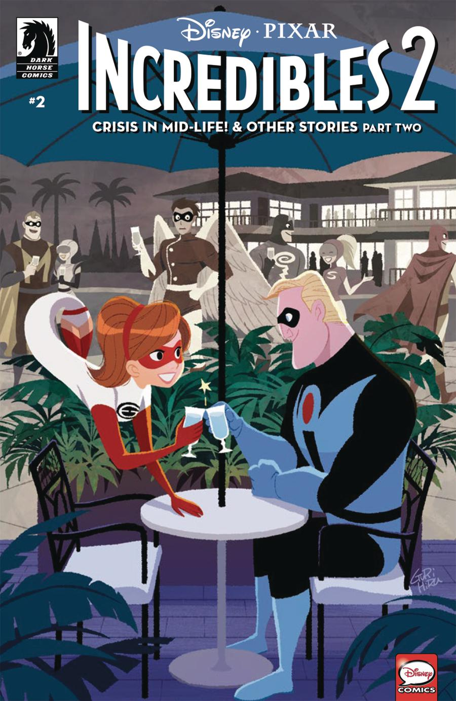 Disney Pixars Incredibles 2 Crisis In Mid-Life & Other Stories #2 Cover A Regular Gurihiru Cover