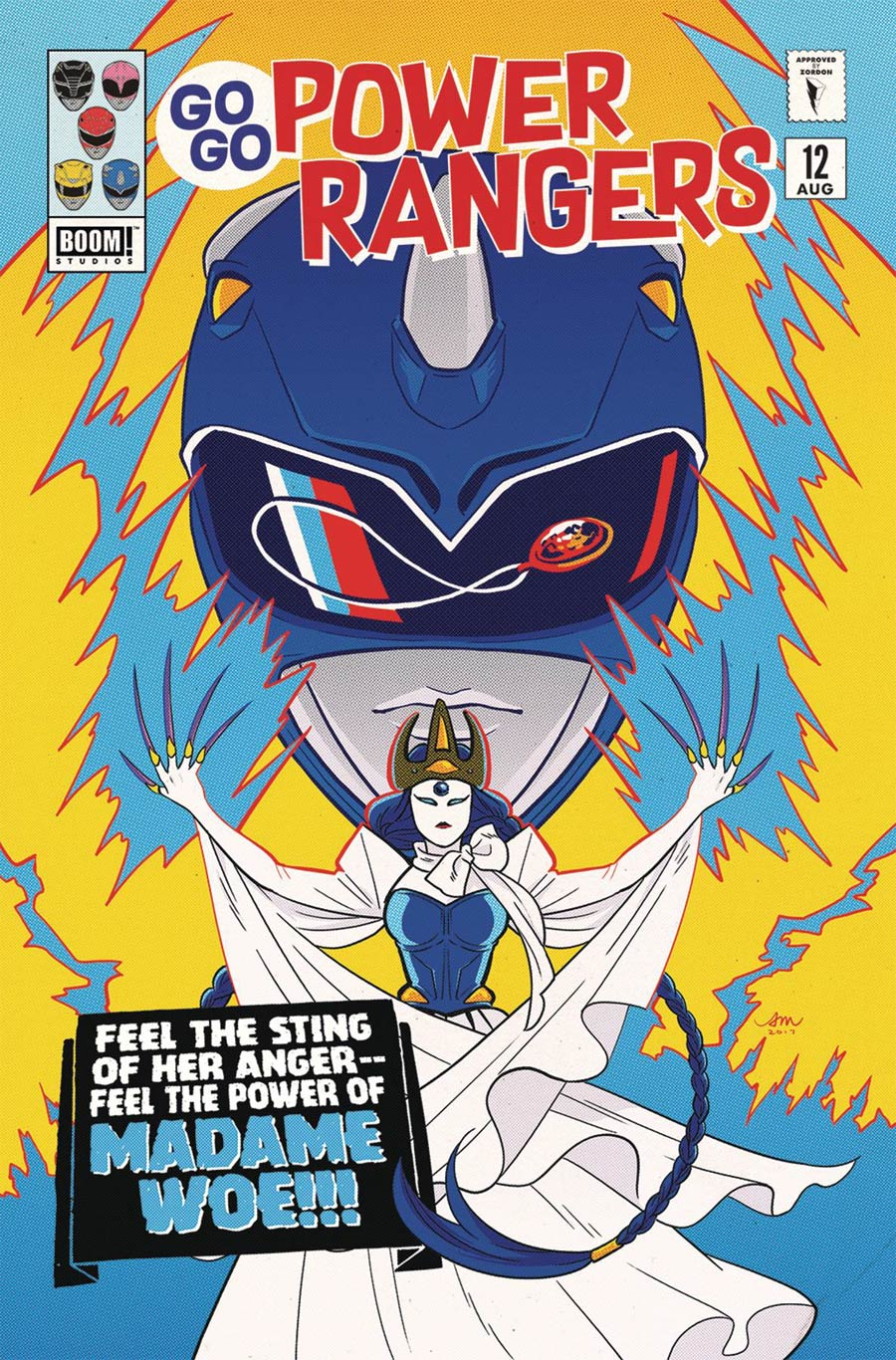 Sabans Go Go Power Rangers #12 Cover C Variant Audrey Mok Subscription Cover (Shattered Grid Tie-In)