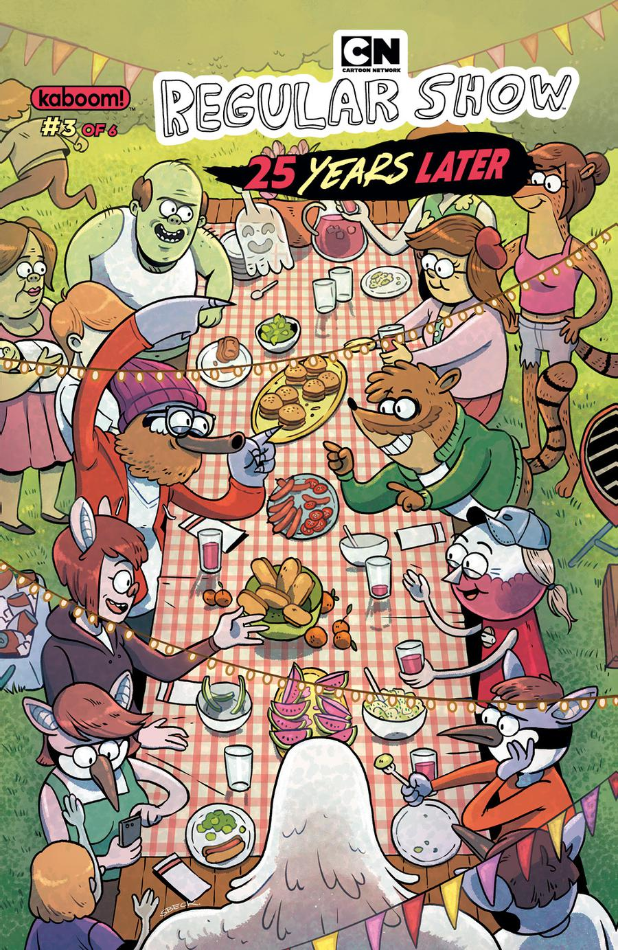 Regular Show 25 Years Later #3 Cover B Variant Sam Beck Subscription Cover