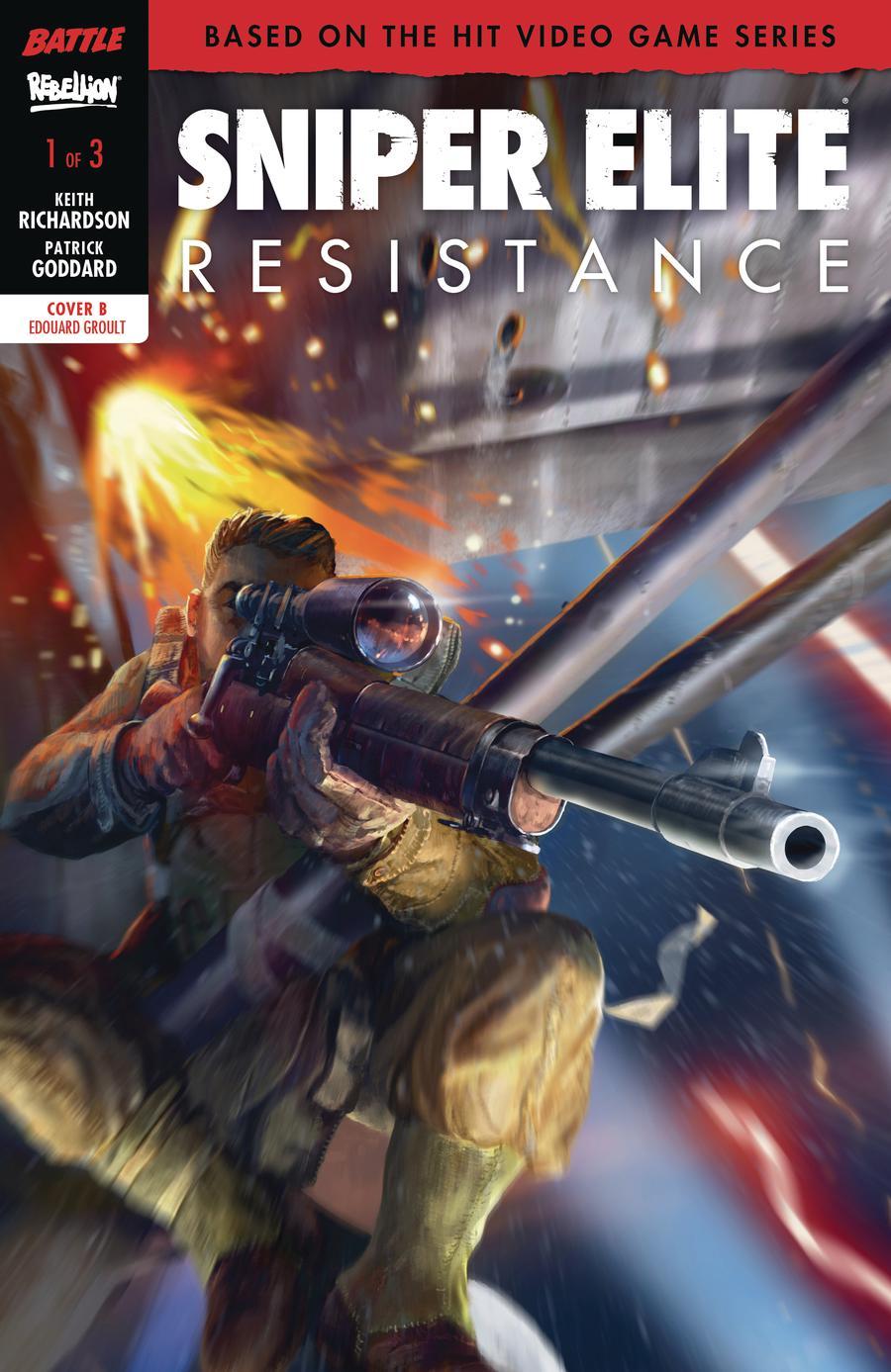 Sniper Elite Resistance #1 Cover B Variant Eduard Groult Cover