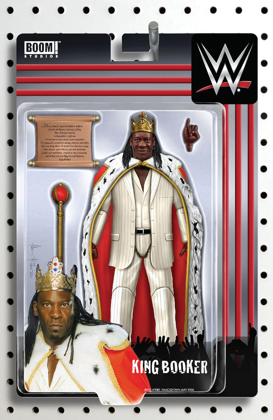 WWE #20 Cover B Variant Adam Riches Action Figure Cover