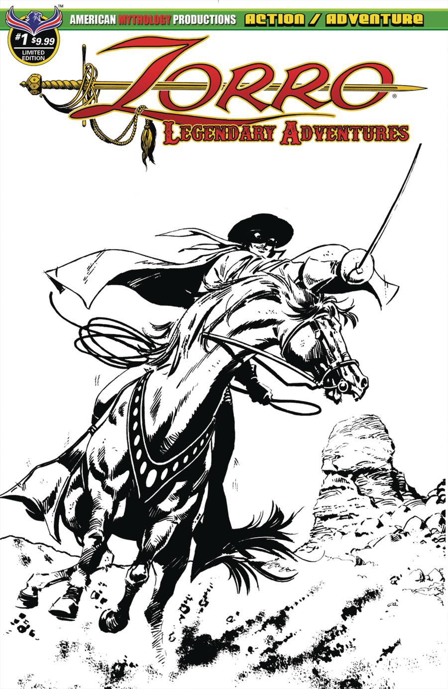 Zorro Legendary Adventures #1 Cover B Variant Francisco Cueto Blazing Blades Of Zorro Limited Edition Cover