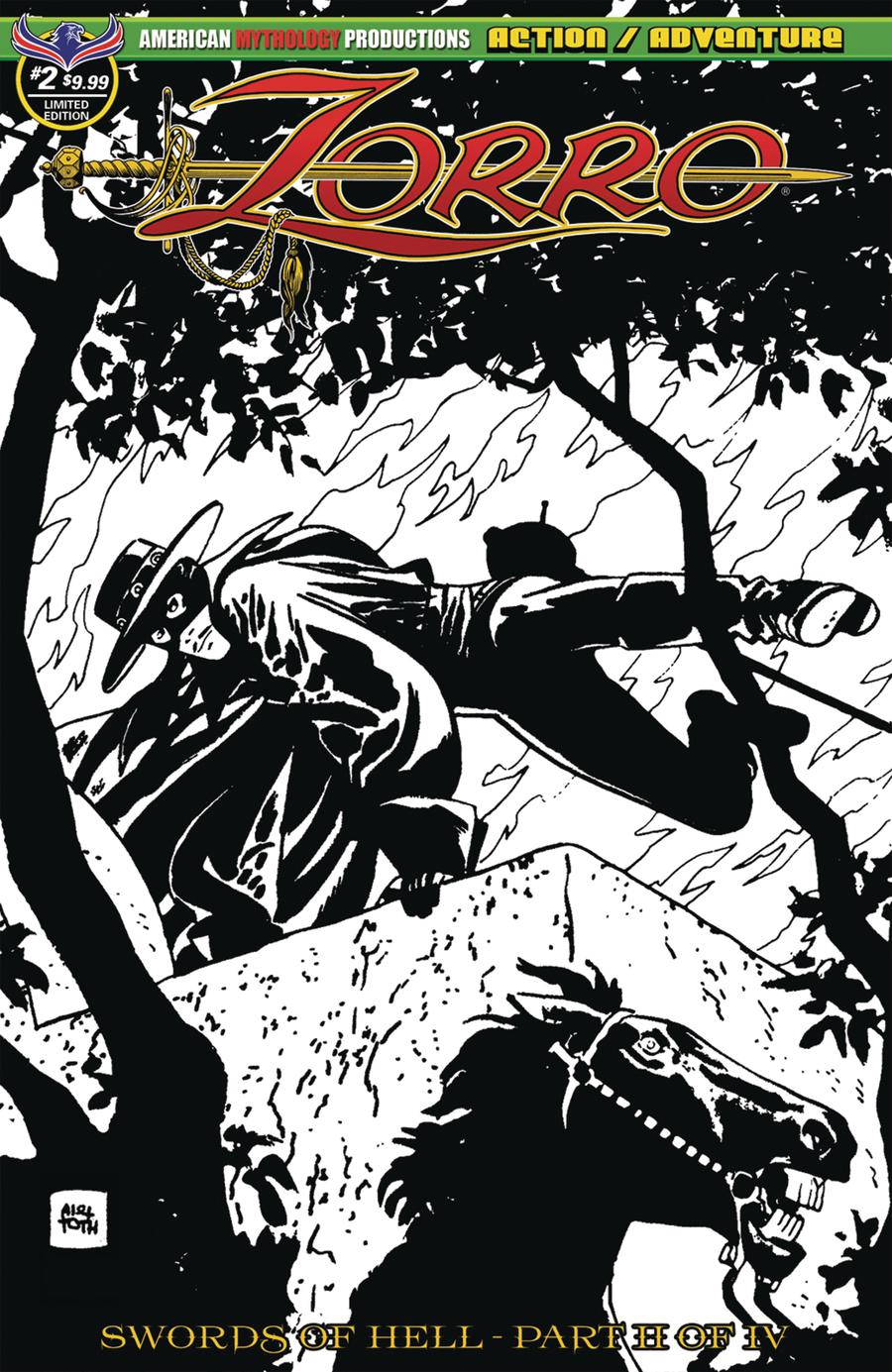 Zorro Swords Of Hell #2 Cover B Variant Alex Toth Visions Of Zorro Limited Edition Cover