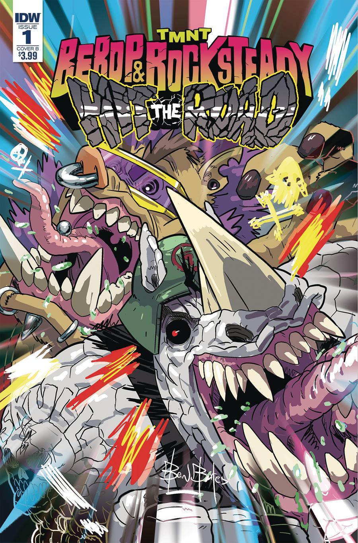 Teenage Mutant Ninja Turtles Bebop & Rocksteady Hit The Road #1 Cover B Variant Ben Bates Cover