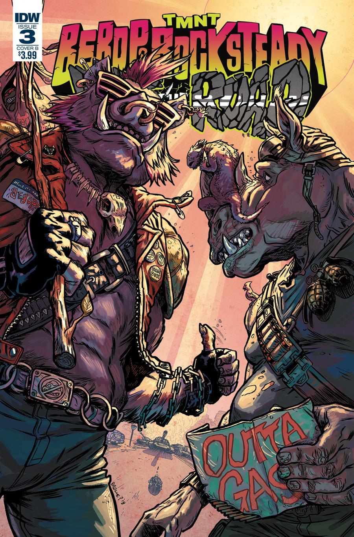 Teenage Mutant Ninja Turtles Bebop & Rocksteady Hit The Road #3 Cover B Variant Ryan Brown Cover