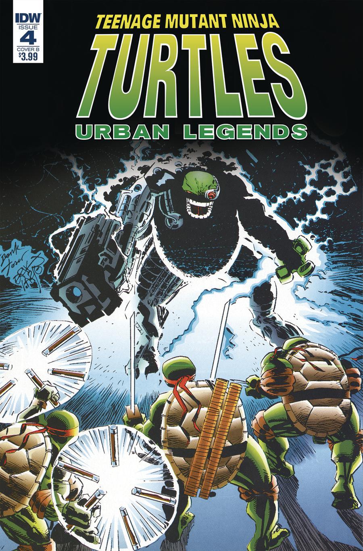 Teenage Mutant Ninja Turtles Urban Legends #4 Cover B Variant Frank Fosco & Erik Larsen Cover