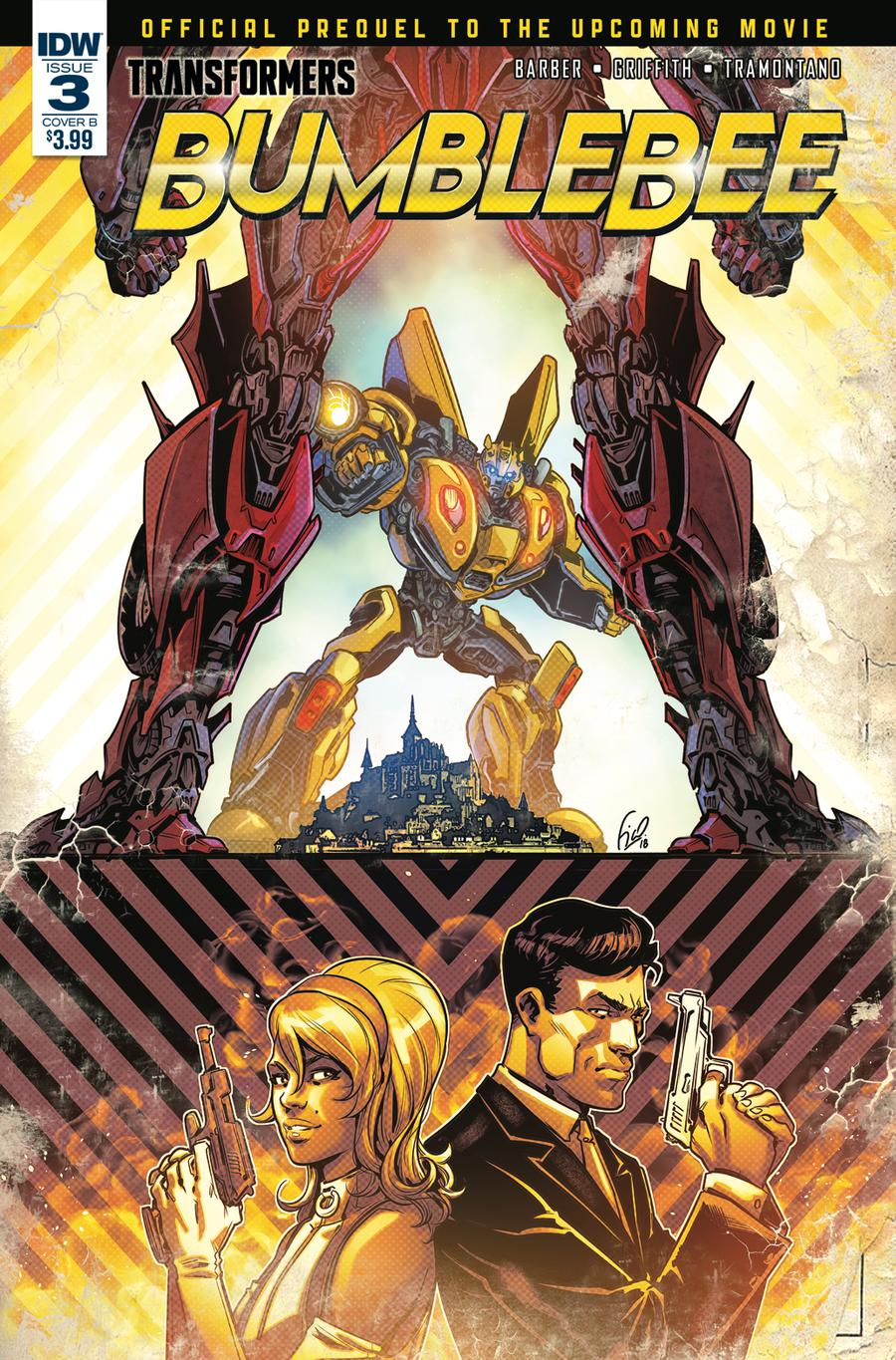 TRANSFORMERS OFFICIAL MOVIE PREQUEL #2 COVER A VARIANT